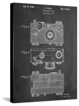 Fassin Photographic Camera Patent--Stretched Canvas Print