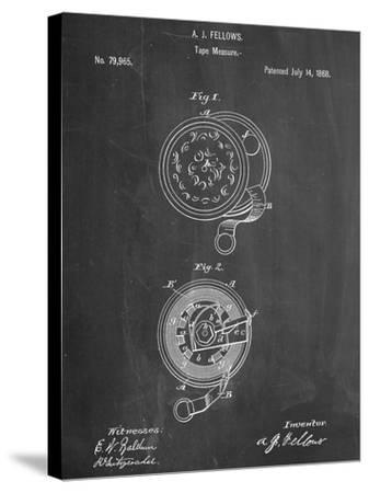 Tape Measure Patent--Stretched Canvas Print