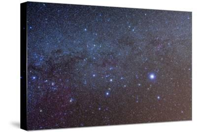The Constellation of Canis Major with Nearby Deep Sky Objects--Stretched Canvas Print