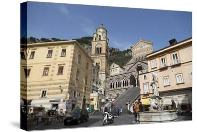The Duomo Cattedrale Sant' Andrea in Amalfi-Martin Child-Stretched Canvas Print