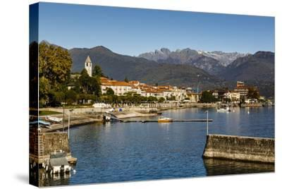 View over Baveno Town, Lake Maggiore, Italian Lakes, Piedmont, Italy, Europe-Yadid Levy-Stretched Canvas Print