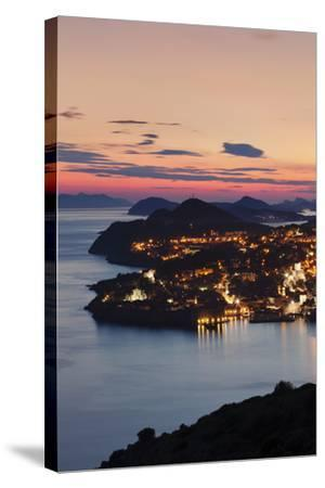 High Angle View of Dubrovnik at Sunset, UNESCO World Heritage Site, Dalmatia, Croatia, Europe-Markus Lange-Stretched Canvas Print