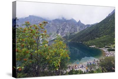 Lake Morskie Oko (Eye of the Sea), Zakopane, Carpathian Mountains, Poland, Europe-Christian Kober-Stretched Canvas Print
