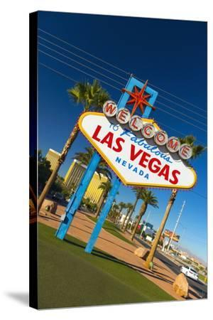 Welcome to Fabulous Las Vegas Sign, Las Vegas, Nevada, United States of America, North America-Alan Copson-Stretched Canvas Print