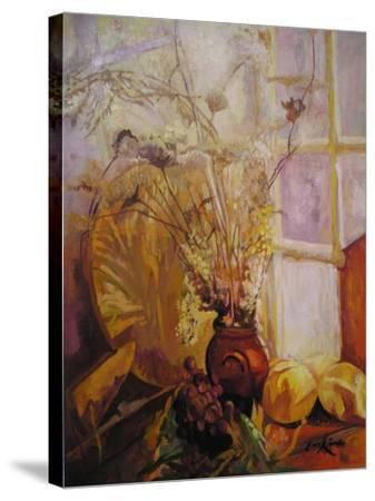 Spray in a Vase, Tuscany Window-John Erskine-Stretched Canvas Print
