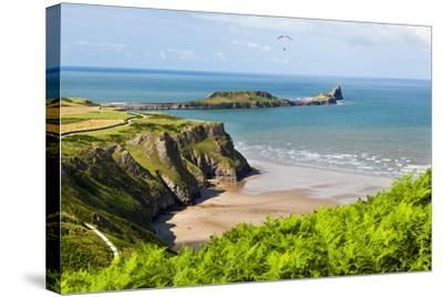 Rhossili Bay, Gower Peninsula, Wales, United Kingdom, Europe-Billy Stock-Stretched Canvas Print