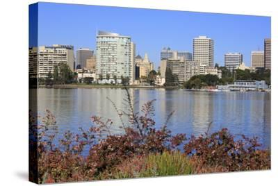 Oakland Skyline and Lake Merritt, Oakland, California, United States of America, North America-Richard Cummins-Stretched Canvas Print