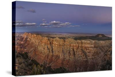 Earth's Shadow, the Blue Band, and Anti-Crepuscular Rays over the Grand Canyon-Babak Tafreshi-Stretched Canvas Print
