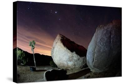 Granite Rocks under Stars in Joshua Tree National Park-Ben Horton-Stretched Canvas Print
