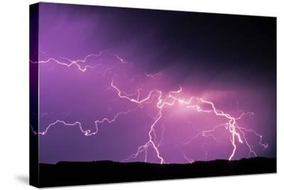 Lightning During a Storm in Yellowstone National Park-Tom Murphy-Stretched Canvas Print