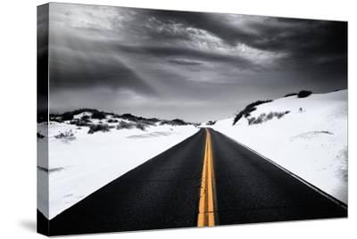 Around the yellow line-Philippe Sainte-Laudy-Stretched Canvas Print
