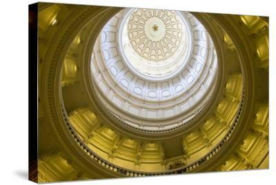 USA, Texas, Austin. The Capitol Building with the Goddess of Liberty.-Randa Bishop-Stretched Canvas Print