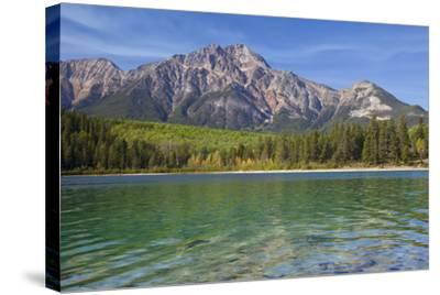 Patricia Lake and Pyramid Mountain, Jasper NP, Alberta, Canada.-Don Paulson-Stretched Canvas Print