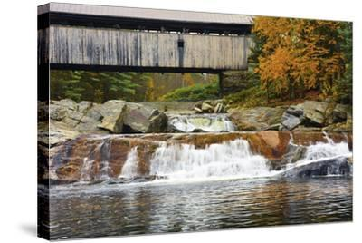 Covered bridge over Wild Ammonoosuc River, New Hampshire, USA-Michel Hersen-Stretched Canvas Print