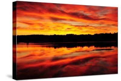 Sunset-Michel Hersen-Stretched Canvas Print