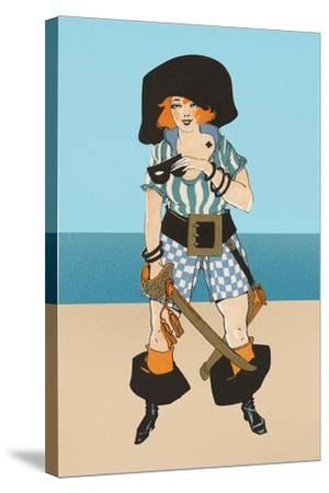 Lady Pirate with Tattoo--Stretched Canvas Print