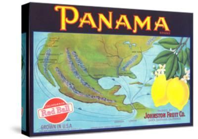 Panama Lemon Label--Stretched Canvas Print