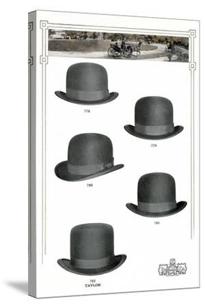 Five Men's Hats Advertisement, 1910s--Stretched Canvas Print