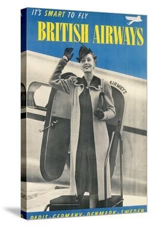 British Airways Travel Poster--Stretched Canvas Print