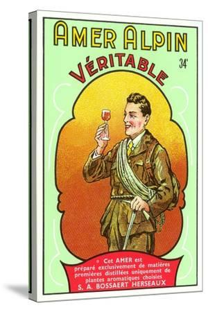 Amer Alpin Vertable Label--Stretched Canvas Print