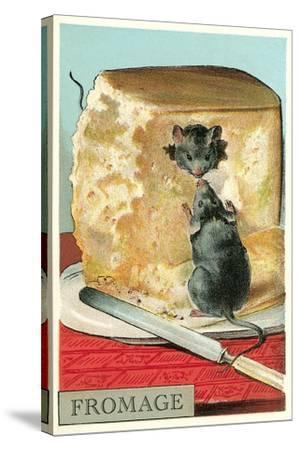 Fromage, Mice in Cheese--Stretched Canvas Print