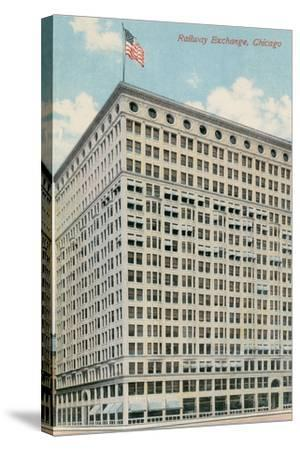 Railway Exchange Building--Stretched Canvas Print