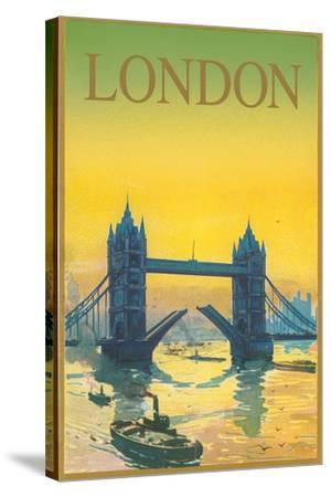 Travel Poster for London--Stretched Canvas Print