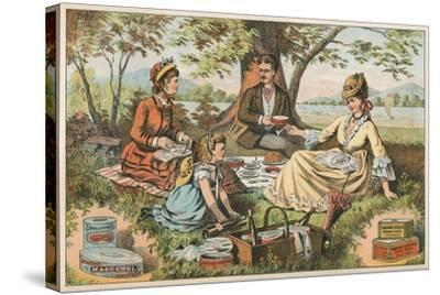 Old Fashioned Picnic--Stretched Canvas Print