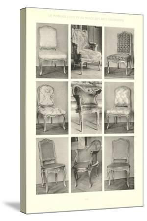 Nine Louis XV Chairs--Stretched Canvas Print