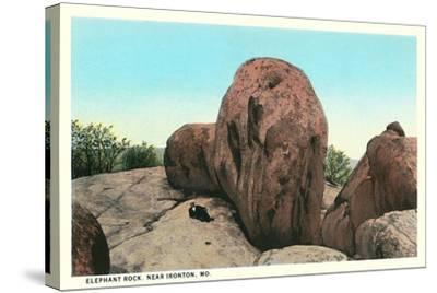 Elephant Rock, Ironton--Stretched Canvas Print