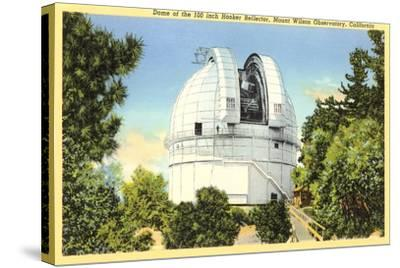 Hooker Reflector Telescope, Mt. Wilson--Stretched Canvas Print