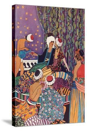 Harem Scene--Stretched Canvas Print