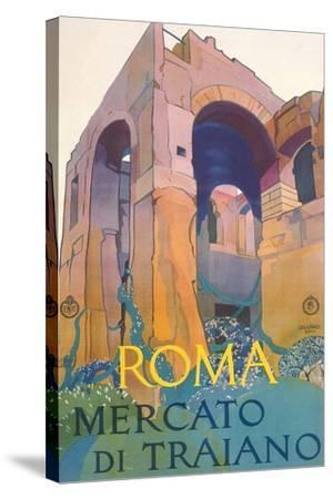 Travel Poster for Rome--Stretched Canvas Print