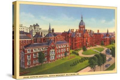 Johns Hopkins Hospital, Baltimore--Stretched Canvas Print