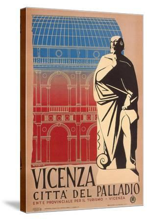 Travel Poster for Vicenza--Stretched Canvas Print