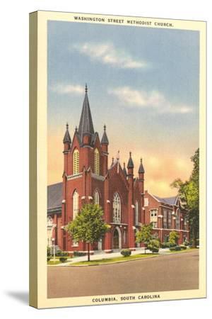 Washington Street Methodist, Columbia--Stretched Canvas Print
