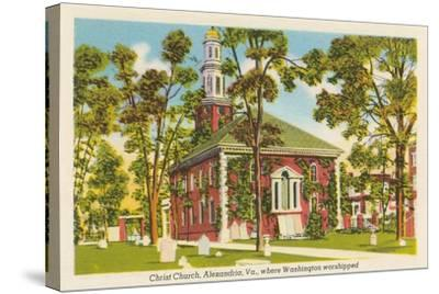 Christ Church, Alexandria, Virginia--Stretched Canvas Print