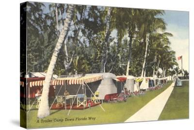 Trailer Campground, Florida--Stretched Canvas Print