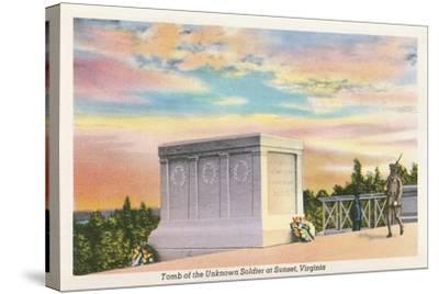 Tomb of Unknown Soldier, Arlington National Cemetery--Stretched Canvas Print