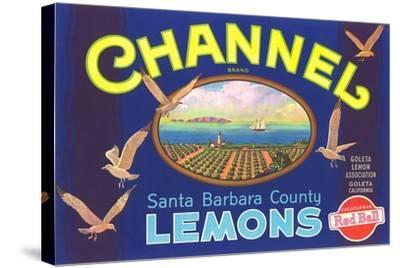 Channel Lemon Label--Stretched Canvas Print