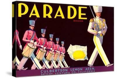 Parade Lemon Label--Stretched Canvas Print