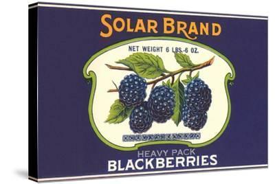 Solar Blackberry Label--Stretched Canvas Print