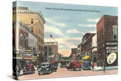 Center Avenue, Brownwood--Stretched Canvas Print