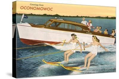 Greetings from Lake Oconomowoc--Stretched Canvas Print
