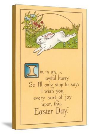 Easter Poem with Bunny--Stretched Canvas Print
