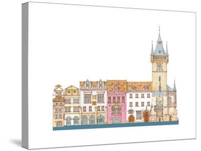 Old Town Hall, Prague, Czech-Fernando Aznar Cenamor-Stretched Canvas Print