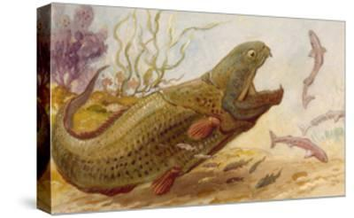 The Extinct Dinichthys Fish Could Grow Up to Twenty-Five Feet Long-Charles R. Knight-Stretched Canvas Print