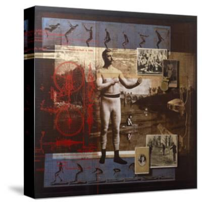 A Collage Depicts Famous Sports Figures from the Twentieth-Century-Fred Otnes-Stretched Canvas Print