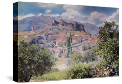 The Fortress Clissa Stands Tall Behind the Village Klis-Hans Hildenbrand-Stretched Canvas Print