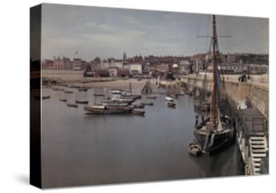 A View of the Harbor in the Resort Town of Ramsgate-Clifton R^ Adams-Stretched Canvas Print